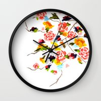 Floral Painting Wall Clock