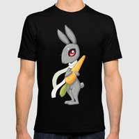 Bunny Carrot 3 Mens Fitted Tee Black SMALL