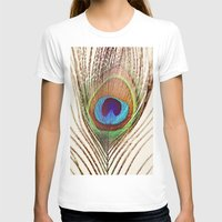 peacock T-shirts featuring Peacock by Laura Ruth