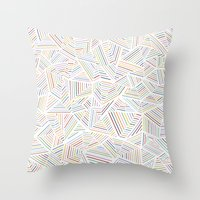 Abstraction Linear Rainbow Throw Pillow