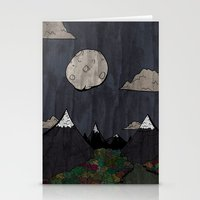 Moon Mountsins Stationery Cards
