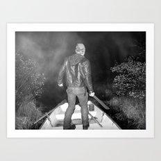 Black Lake Adventure Art Print