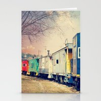 Colorful Train Stationery Cards