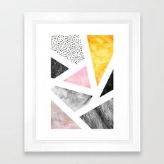 Calacatta Framed Art Print