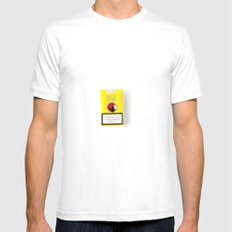 pixel spirit White SMALL Mens Fitted Tee