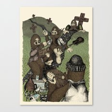 Night of the Living Squatch Canvas Print