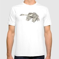 Flying Swan Mens Fitted Tee White SMALL