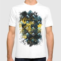 Abstract Thinking Remix Mens Fitted Tee White SMALL