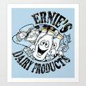 Ernies ghostly gold tops Art Print