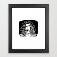 Don't Be Afraid to Let Your Body Die Framed Art Print