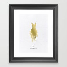 LBD Five Gold Framed Art Print