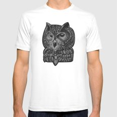 Cool owl SMALL Mens Fitted Tee White