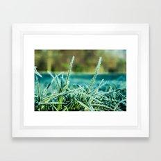 on a cold and sunny morning Framed Art Print