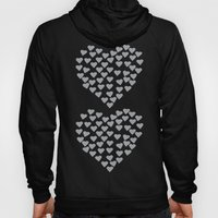 Hearts Heart x2 Grey Hoody