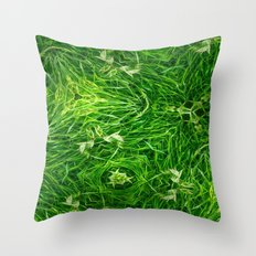 The Mystery Of The Grass Throw Pillow