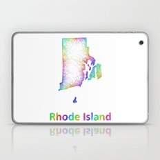 Rainbow Rhode Island map Laptop & iPad Skin
