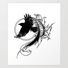 Crow Fly Straight Art Print