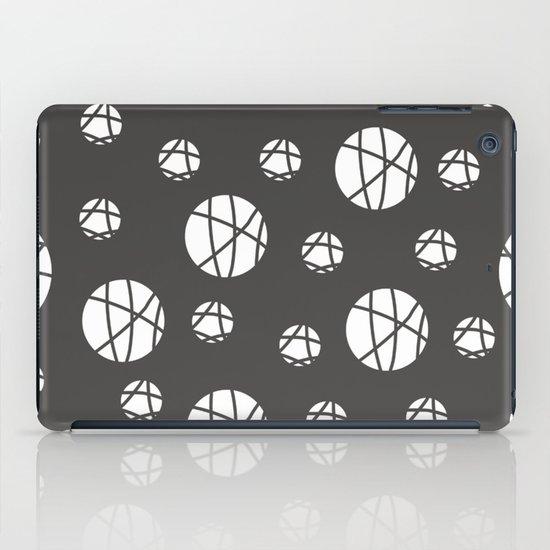 Broken Orbs (WhiteOnGray) iPad Case