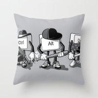 Computer Mafia Throw Pillow