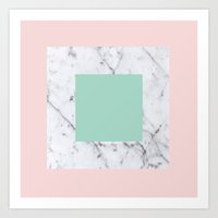 Marble With Pastels /// … Art Print