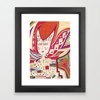 Dame Framed Art Print