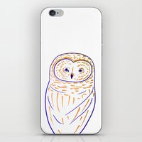 The Owl. Owl art, owls, owl print, owl illustration, nature, animals, children's  iPhone & iPod Skin