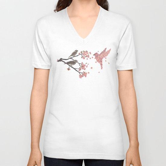 Blossom Bird  V-neck T-shirt