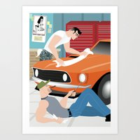 Muscle Car for Handsome Devil Press Art Print
