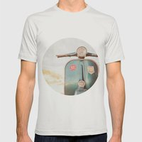 The Blue Vespa Mens Fitted Tee Silver SMALL
