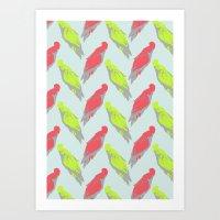 pale parrots Art Print