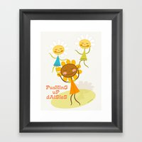 Pushing up daisies Framed Art Print