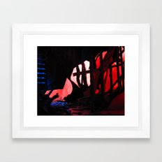 Glitch Space 2 Framed Art Print