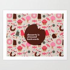 desserts! Art Print