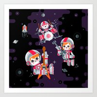 Space Rock Art Print