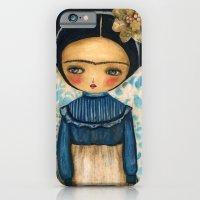 Frida In A Blue And Cream Dress iPhone 6 Slim Case