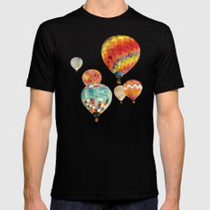 Balloons SMALL Mens Fitted Tee Black