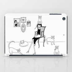 cat lady iPad Case
