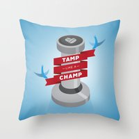 Tamp Like A Champ Throw Pillow