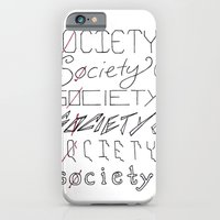 iPhone & iPod Case featuring Six Society Sixes by Katy Betz