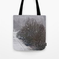 Snow Is Falling Tote Bag