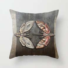 The circle of the moths Throw Pillow