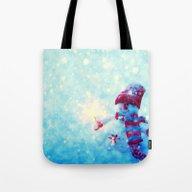 Cute Snowman Watercolor … Tote Bag