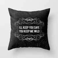 KEEP YOU WILD Throw Pillow