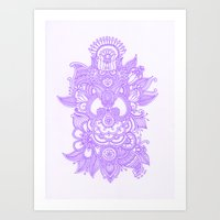 Purple Henna Art Print