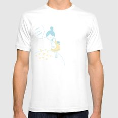 Crece Mens Fitted Tee SMALL White