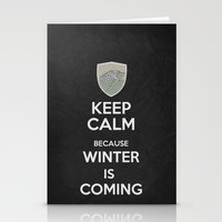 Keep Calm - Game Poster 02 Stationery Cards