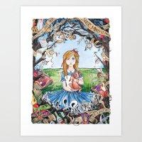 Just Ask Alice ..... Art Print