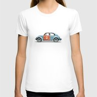 T-shirt featuring Number 11 - VW Beetle by Vin Zzep