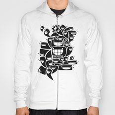 Happy Squiggles - 1-Bit Oddity - Black Version Hoody