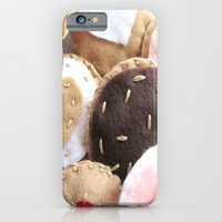iPhone & iPod Case featuring Felt Cookies by Elika
